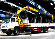 China Truck mounted hydraulic crane 40L / min 8TON  Mobile knuckleboom crane factory