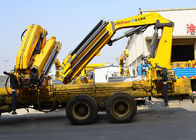 China 14T Mobile cargo crane truck knuckle boom Safety Transportation factory