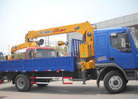 China Durable Heavy Things Lifting Telescopic Boom Truck Mounted Crane , 6.3T factory