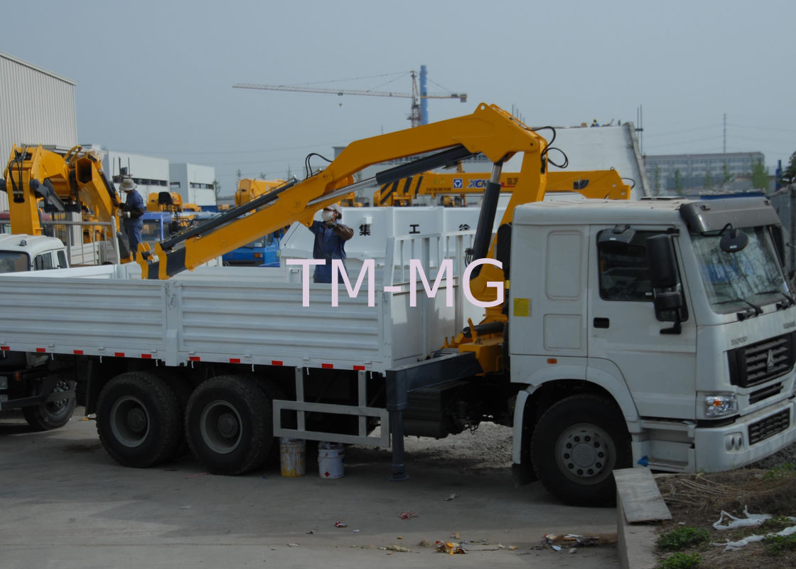 Durable 5T Wire Rope Raise Articulated Boom Crane , 25 L/min Oil Flow