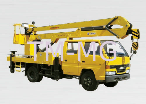 Articulating Boom Truck : Xcmg bucket articulating truck mounted lift t lifting