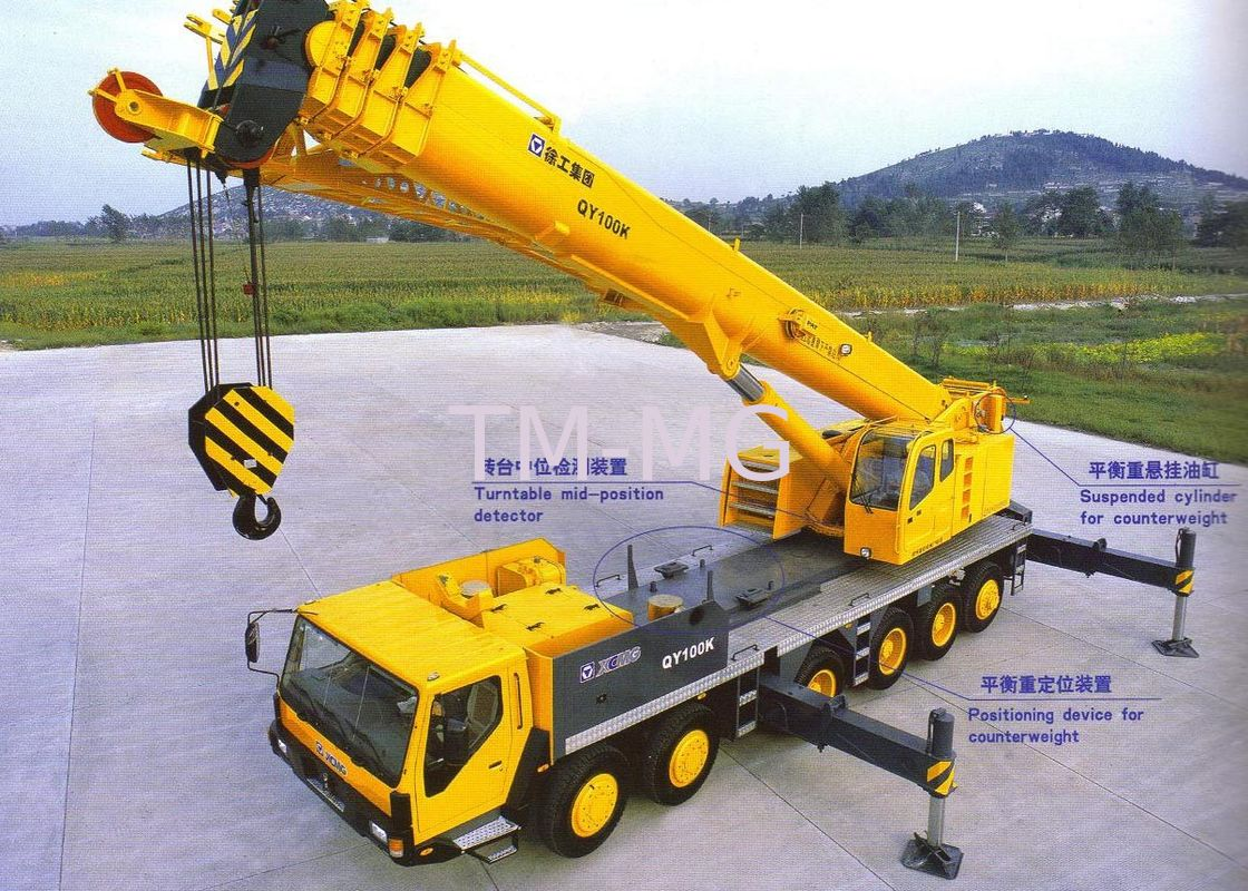 extended streamline boom hydraulic mobile crane 100 tons