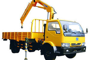 China Durable Knuckle Boom Truck Mounted Crane, Wire Rope Raise And Down 3200 kg factory