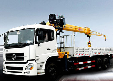 Hydraulic Telescopic Truck With Crane 16.5 Meters Lifting Height