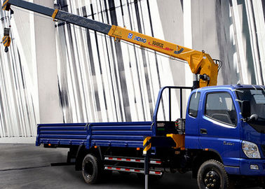Economical XCMG 4 Ton Hydraulic Boom Truck Crane , 25 L/min with High Performance