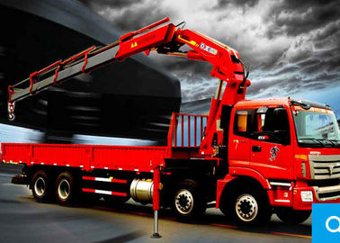 China 16 Ton Cargo Folding boom truck crane rental For Telecommunications facilities factory