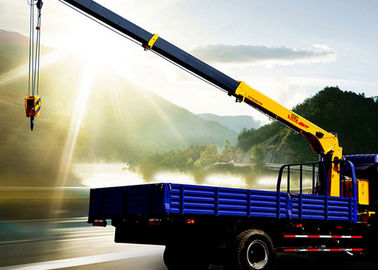 China 2120kg Durable heavy crane truck 5 ton Hydraulic Lifting / mobile telescoping boom crane factory