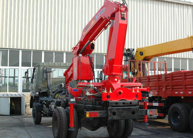 China High Efficiency 5 Ton Light Truck Loader Crane , Knuckle Cargo Crane Truck factory