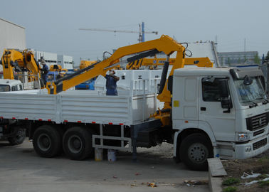 China Durable 5T Wire Rope Raise Articulated Boom Crane , 25 L/min Oil Flow factory