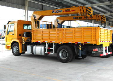 China Durable 8 Ton Transportation Telescopic Boom Truck Mounted Crane, Wire Rope factory
