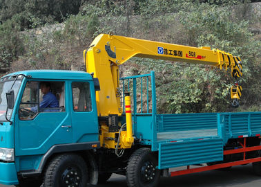 Durable 8 Ton Lifting Capacity Truck Loader Crane With Telescopic Boom