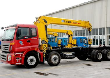 Durable 14 Ton Hydraulic System Truck Mounted Crane, 63 L/min Oil Flow