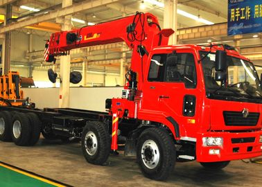 China 16 Ton Telescopic Boom Truck Mounted Crane With 80 L/min , Heavy Duty factory