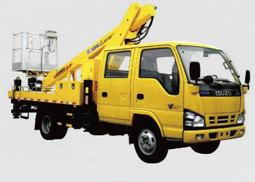 Durable Basket Truck Mounted Lift , 16m XCMG Articulating Boom Lift