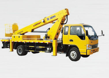 Efficient XZJ5082JGK Reaching Up And Over Machinery Truck Mounted Lift , 3 Persons