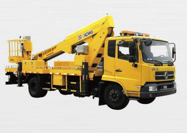 XCMG Rotary Platform Boom Lift Truck , Three Telescopic Arms