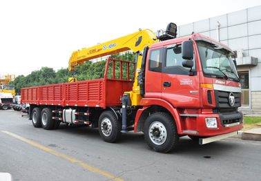 14 Ton truck mounted telescopic boom crane Driven By Hydraulic , 35 TM