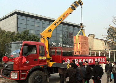 China Hydraulic Lifting Telescopic Boom Truck Crane Mounted With 2270 kg Crane factory