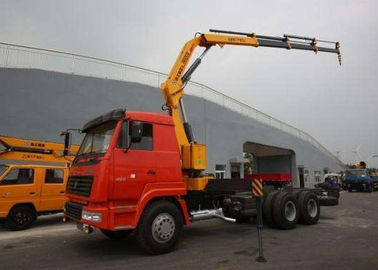 XCMG 5 Ton Transportation Folding Boom Crane / Lorry Mounted telescopic mobile crane
