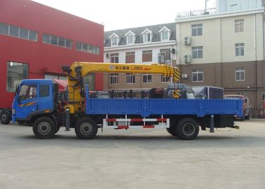 8 Ton Telescoping Boom Truck Crane , Hydraulic truck loading crane for sales