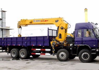 China 16 Ton construction Telescopic Boom Truck Crane With 80 L / min , Heavy Duty factory