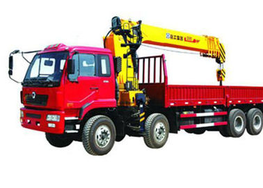 Mobile Telescopic Boom Truck Crane , 16T 80 L/min Oil Flow