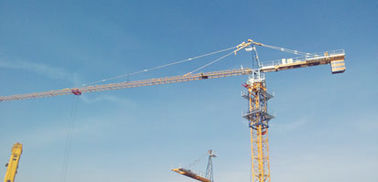 China High Capacity QTZ125C 10 Ton Building Tower Crane , 60m Boom Length factory