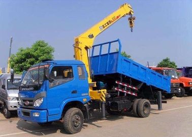 Telescopic Boom Truck Mounted Crane 6.3 Ton For Safety Transportion