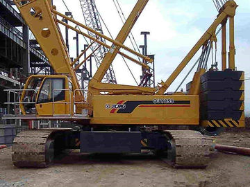 China Durable Construction Site Mobile Hydraulic Crawler Crane , QUY250 XCMG Crawler Crane factory