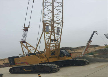 China 85 ton Jib 12t Hydraulic Crawler Crane , mobile hydraulic crane XGC85 factory