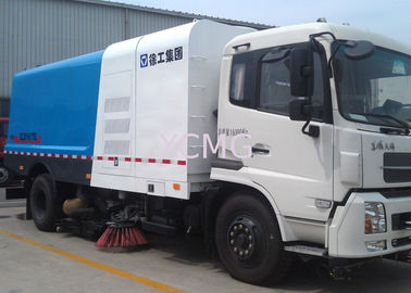 High Pressure Special Purpose Vehicles Washing Road Sweeper Truck 8tons With Washer