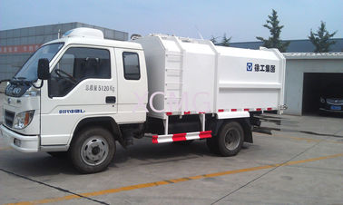 China Side Loader Compactor Garbage Truck 3T With Self Dumping XZJ5072ZYS factory