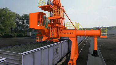 Closed Vertical Screw Coal Unloading System / Bulk Material Handling Equipment