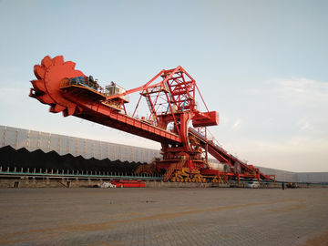 Single / Double Cantilever Bucket Coal Unloading System Bucket Wheel Reclaimer