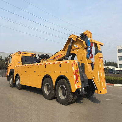 Durable Custom Wrecker Tow Truck , 200KN Boom / Sling Separated Breakdown Recovery Truck